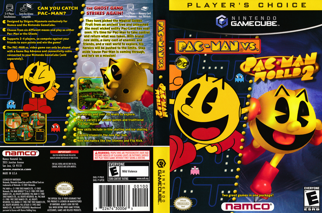 Pac-Man vs. Wii coverfullHQB (PRJE01)