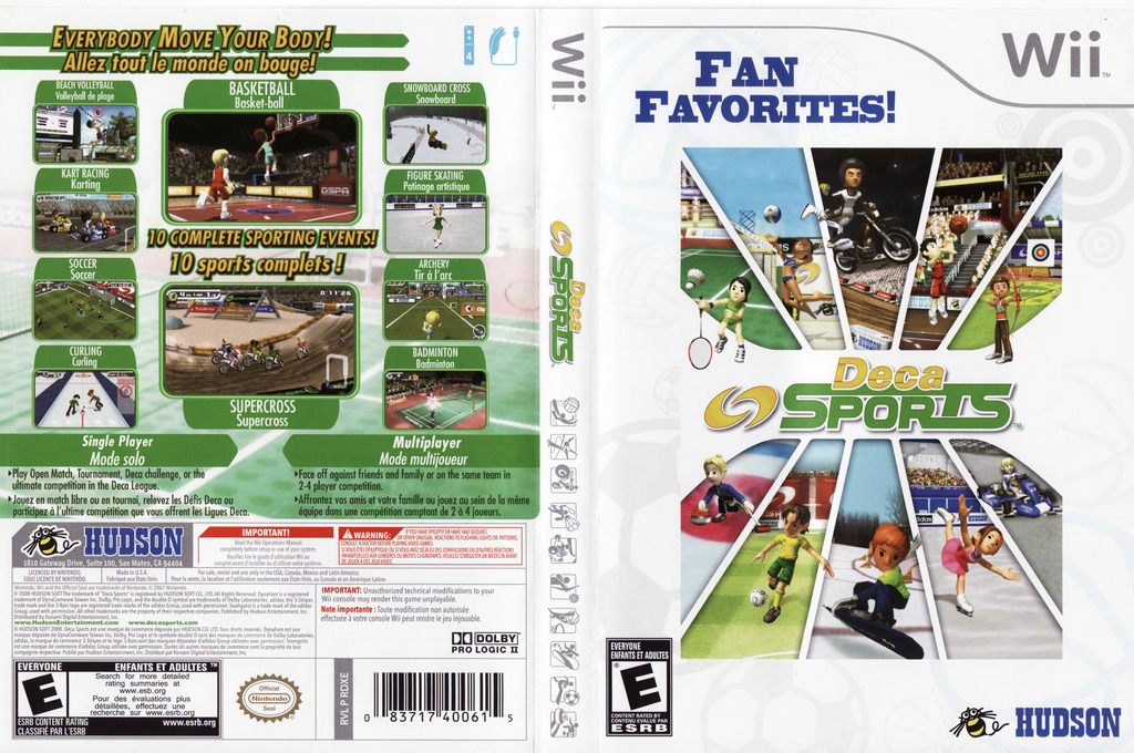 Deca Sports Wii coverfullHQB (RDXE18)
