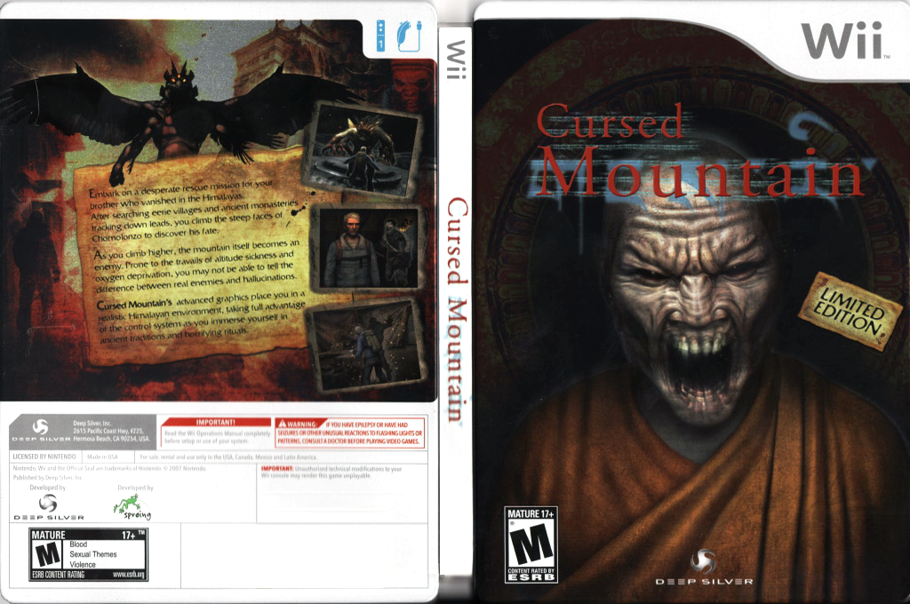Cursed Mountain Wii coverfullHQB (RQ6EJJ)