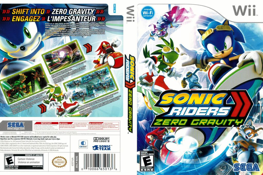Sonic Riders: Zero Gravity Wii coverfullHQB (RS9E8P)