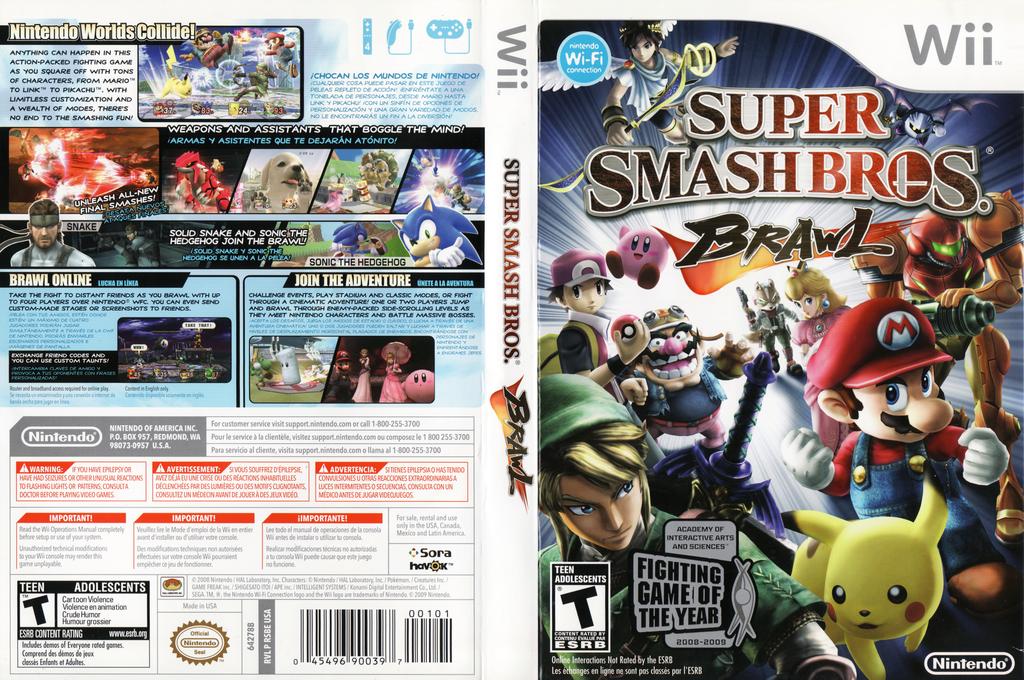 Super Smash Bros. Brawl Wii coverfullHQB (RSBE01)
