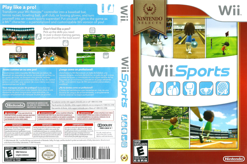 Wii Sports Wii coverfullHQB (RSPE01)