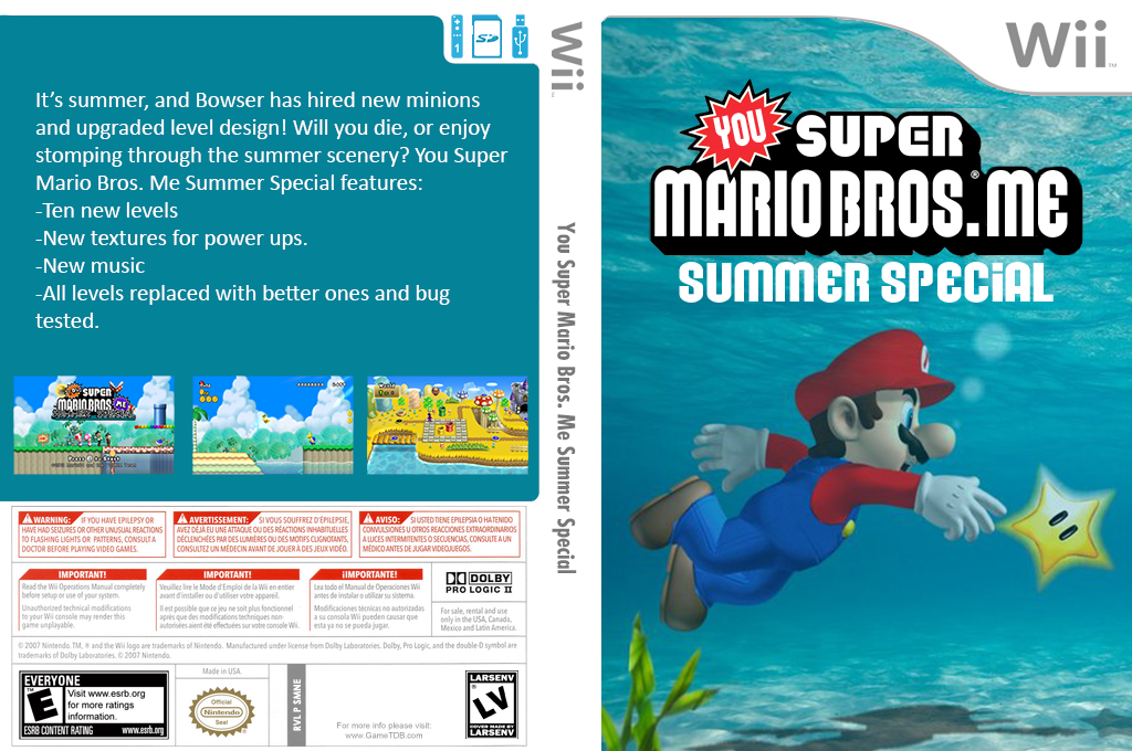 You Super Mario Bros. Me Summer Special Wii coverfullHQB (SMNEYM)