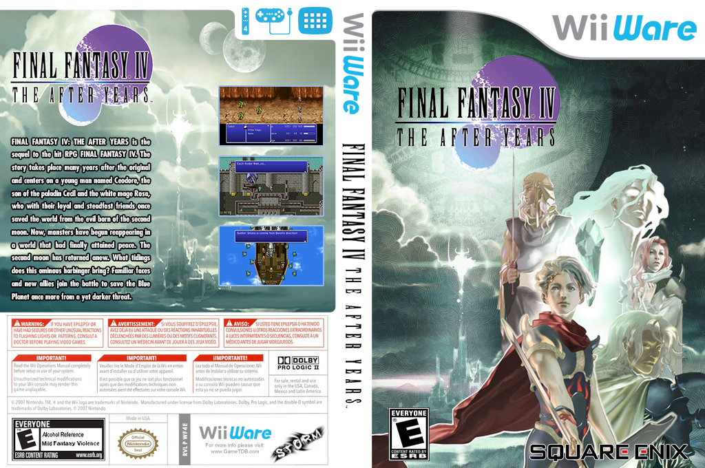 Final Fantasy IV: The After Years Wii coverfullHQB (WF4E)