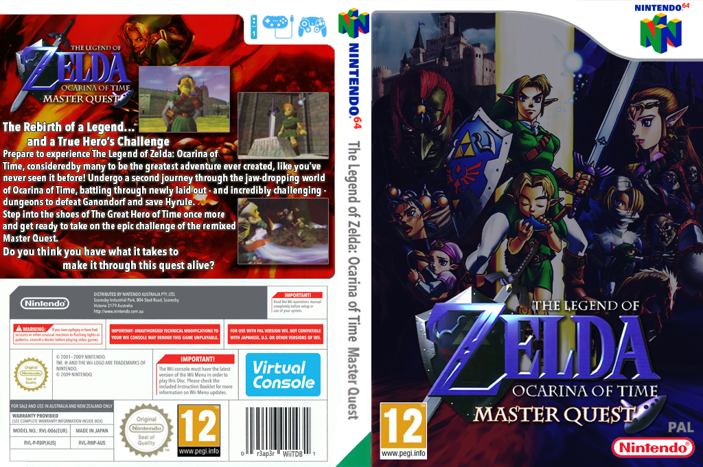 The Legend of Zelda: Ocarina of Time Master Quest Wii coverfullHQB2 (NEEA)