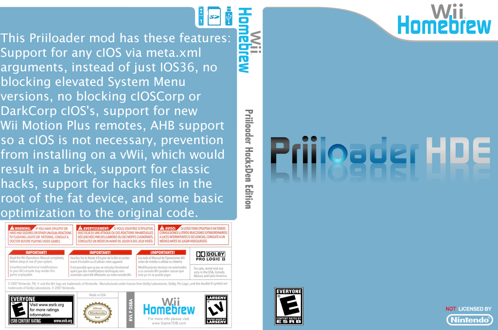 Priiloader HacksDen Edition Wii coverfullHQB2 (D58A)