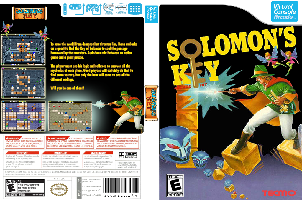Solomon's Key Wii coverfullHQB2 (E6NE)