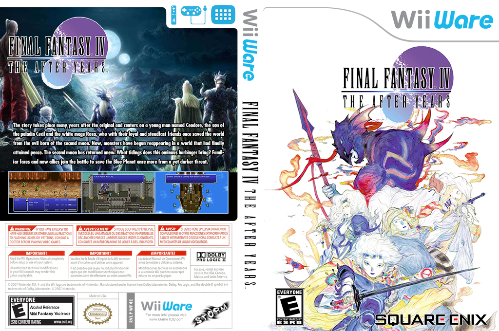 Final Fantasy IV: The After Years Wii coverfullHQB2 (WF4E)