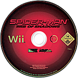 Spider-Man: Web of Shadows Wii disc (R3SP52)