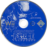 Star Wars: The Force Unleashed Wii disc (RSTP64)