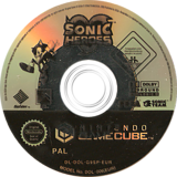 Sonic Heroes GameCube disc (G9SP8P)