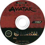 Avatar: The Legend of Aang GameCube disc (GAVY78)