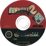 Burnout 2: Point of Impact GameCube disc (GB4P51)