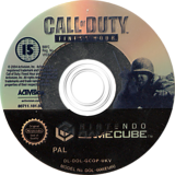 Call of Duty: Finest Hour GameCube disc (GCOP52)