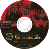 Dead to Rights GameCube disc (GDRP69)