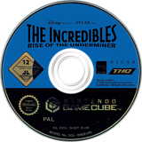 The Incredibles: Rise of the Underminer GameCube disc (GIQY78)