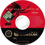 Spider-Man 2 GameCube disc (GK2D52)