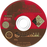 King Arthur GameCube disc (GKHPA4)
