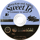 Mary-Kate and Ashley: Sweet 16 Licensed to Drive GameCube disc (GMAP51)