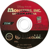 Monsters, Inc. Scream Arena GameCube disc (GMNP78)