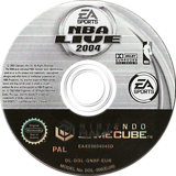 NBA Live 2004 GameCube disc (GN8P69)