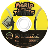 Mario Power Tennis GameCube disc (GOMP01)
