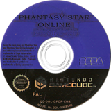 Phantasy Star Online Episode I&II GameCube disc (GPOP8P)