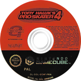 Tony Hawk's Pro Skater 4 GameCube disc (GT4F52)