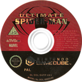 Ultimate Spider-Man GameCube disc (GUTP52)