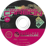 Need for Speed: Carbon GameCube disc (GW5D69)