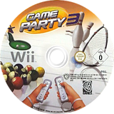Game Party 3 Wii disc (R3EPWR)