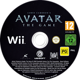 James Cameron's Avatar: The Game Wii disc (R5VX41)
