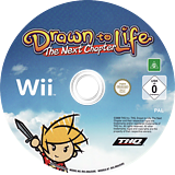 Drawn to Life: The Next Chapter Wii disc (R9DP78)