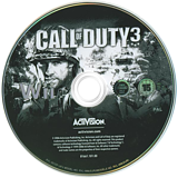 Call of Duty 3 Wii disc (RCDD52)