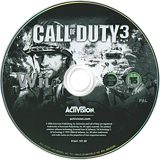 Call of Duty 3 Wii disc (RCDP52)