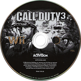 Call of Duty 3 Wii disc (RCDX52)
