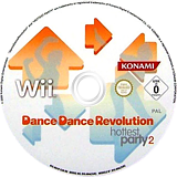 Dance Dance Revolution: Hottest Party 2 Wii disc (RD4PA4)