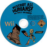 Destroy All Humans! Big Willy Unleashed Wii disc (RDHP78)