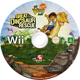 Go, Diego, Go! Great Dinosaur Rescue Wii disc (RIGP54)