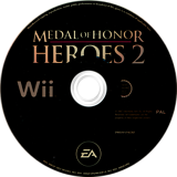Medal of Honor: Heroes 2 Wii disc (RM2P69)