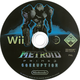 Metroid Prime 3: Corruption Wii disc (RM3P01)