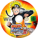 Naruto Shippuden: Clash of Ninja Revolution 3 Wii disc (RNEPDA)