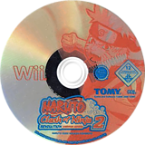Naruto: Clash of Ninja Revolution 2 Wii disc (RNYPDA)