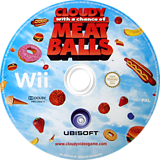 Cloudy with a Chance of Meatballs Wii disc (ROYP41)