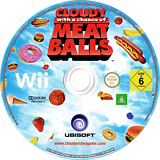 Cloudy with a Chance of Meatballs Wii disc (ROYX41)