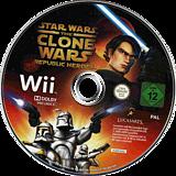 Star Wars The Clone Wars: Republic Heroes Wii disc (RQLP64)