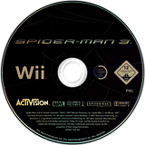 Spider-Man 3 Wii disc (RS3X52)
