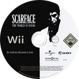 Scarface: The World Is Yours Wii disc (RSCD7D)