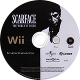 Scarface: The World Is Yours Wii disc (RSCU7D)