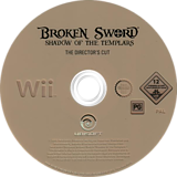 Broken Sword: Shadow of the Templars - The Director's Cut Wii disc (RSJP41)